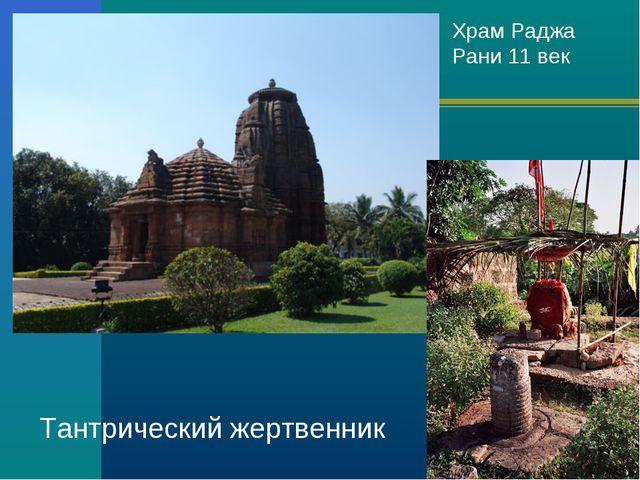 Храм Раджа Рани 11 век Тантрический жертвенник