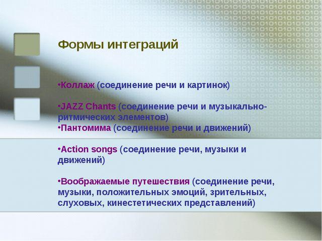 Коллаж (соединение речи и картинок) JAZZ Chants (соединение речи и музыкально...