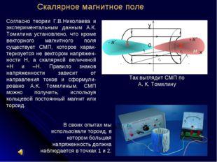 Согласно теории Г.В.Николаева и экспериментальным данным А.К. Томилина устано