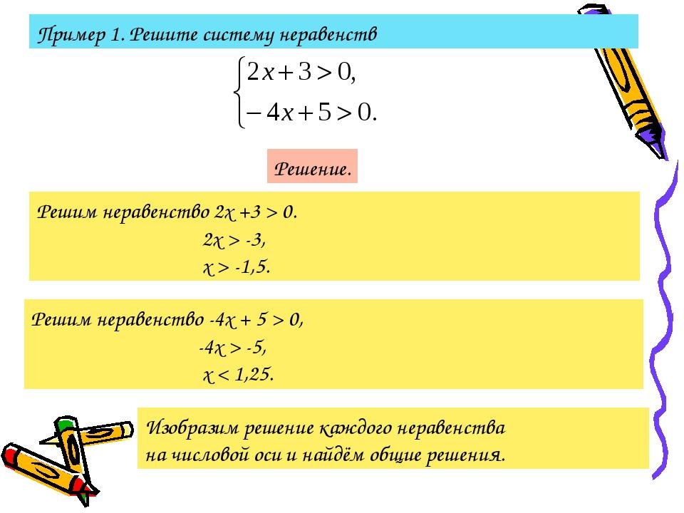 Пример 1. Решите систему неравенств Решение. Решим неравенство 2х +3 > 0. 2х...