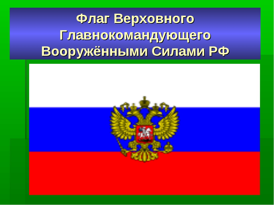 Флаг Верховного Главнокомандующего Вооружёнными Силами РФ