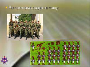 Расположение солдат на плацу: