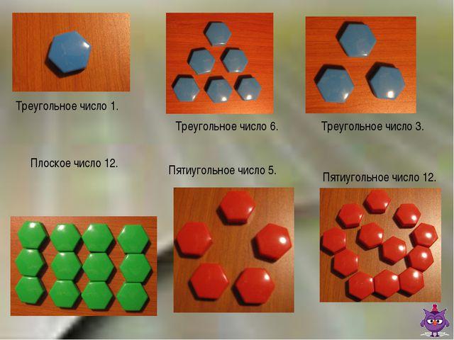 Треугольное число 1. Треугольное число 6. Треугольное число 3. Плоское число...