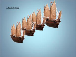 A fleet of ships