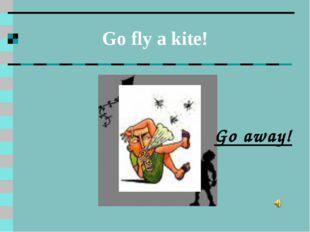 Go fly a kite! Go away!