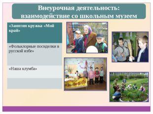 Внеурочная деятельность: взаимодействие со школьным музеем «Занятиякружка «Мо