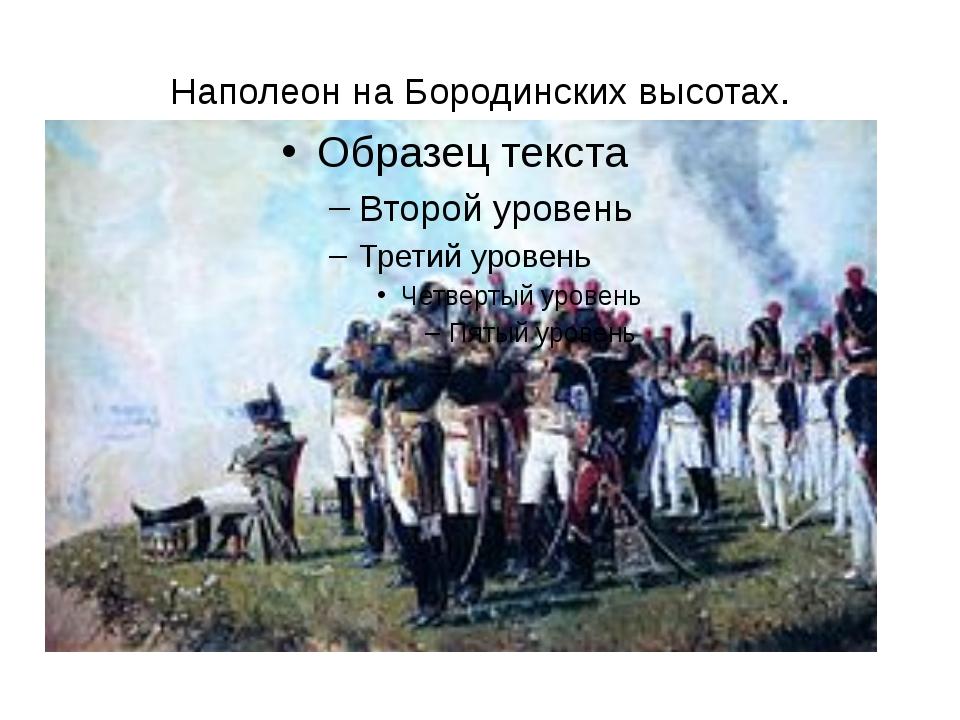 Наполеон на Бородинских высотах.