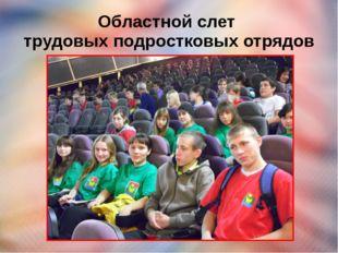 Областной слет трудовых подростковых отрядов