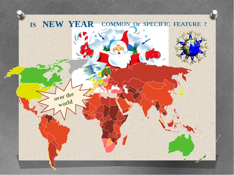 over the world IS NEW YEAR COMMON Or SPECIFIC FEATURE ?