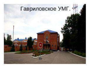 Гавриловское УМГ.
