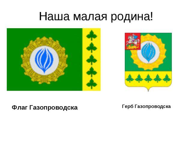 Наша малая родина! Флаг Газопроводска Герб Газопроводска