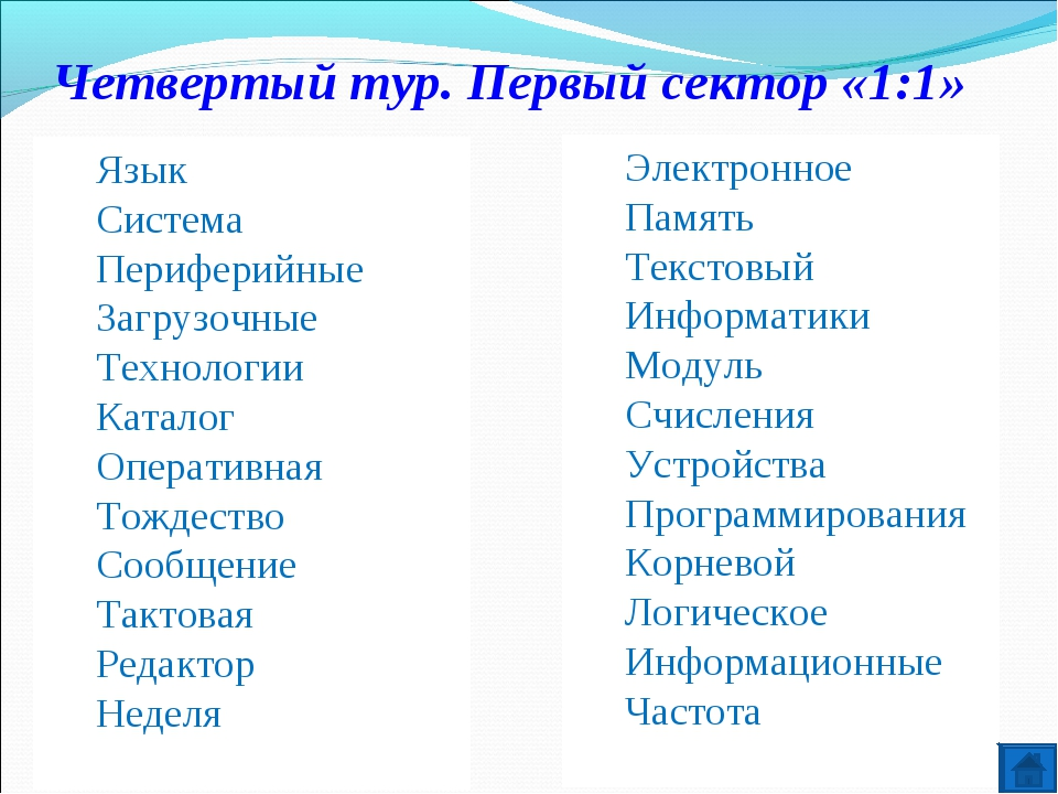 Четвертый тур. Первый сектор «1:1» Язык Система Периферийные Загрузочные Техн...
