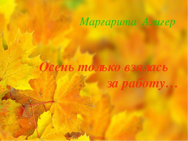 Маргарита Алигер Осень только взялась за работу…