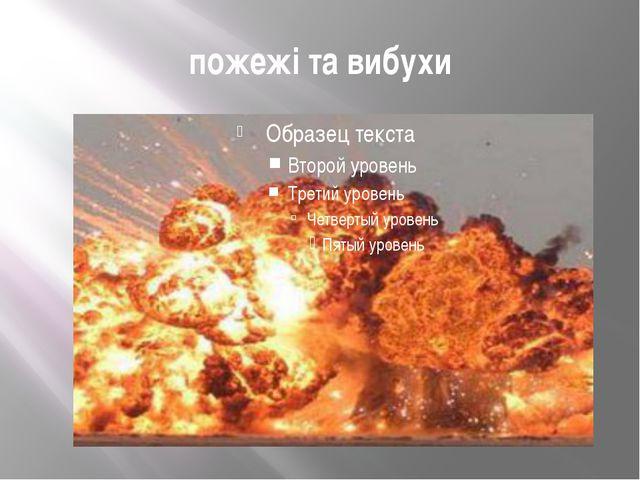 пожежі та вибухи