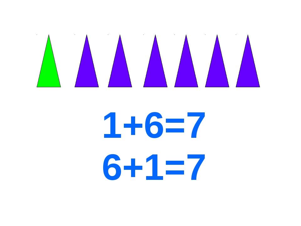 1+6=7 6+1=7