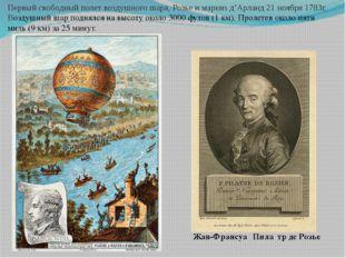 Жан-Франсуа́ Пила́тр де Розье́ Первый свободный полет воздушного шара, Розье
