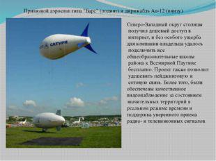 """Привязной аэростат типа """"Барс"""" (поднят) идирижабль Au-12(внизу) Северо-Запа"""