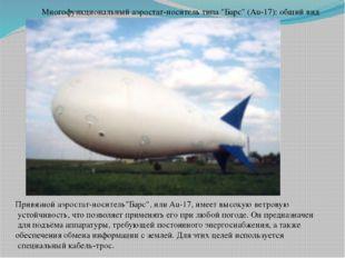 """Многофункциональный аэростат-носитель типа """"Барс"""" (Au-17): общий вид Привязно"""