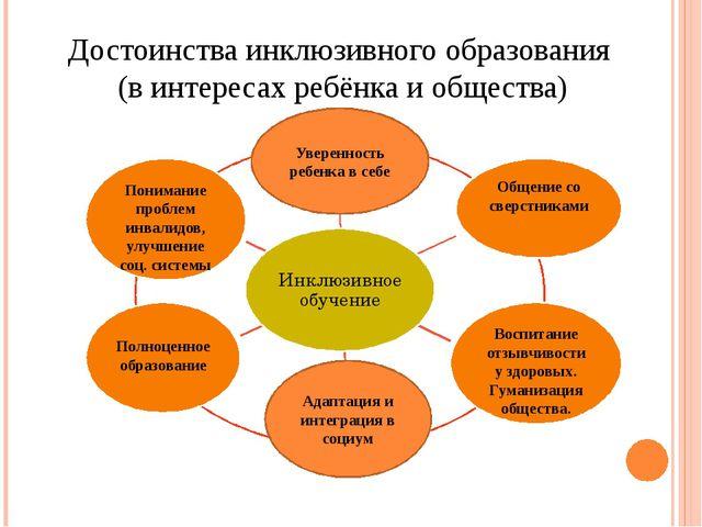 Достоинства инклюзивного образования (в интересах ребёнка и общества) Воспита...
