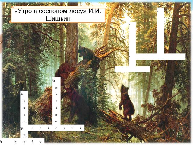 «Утро в сосновом лесу» И.И. Шишкин 2  1...
