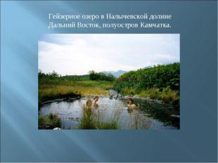 Гейзерное озеро в Налычевской долине Дальний Восток, полуостров Камчатка.
