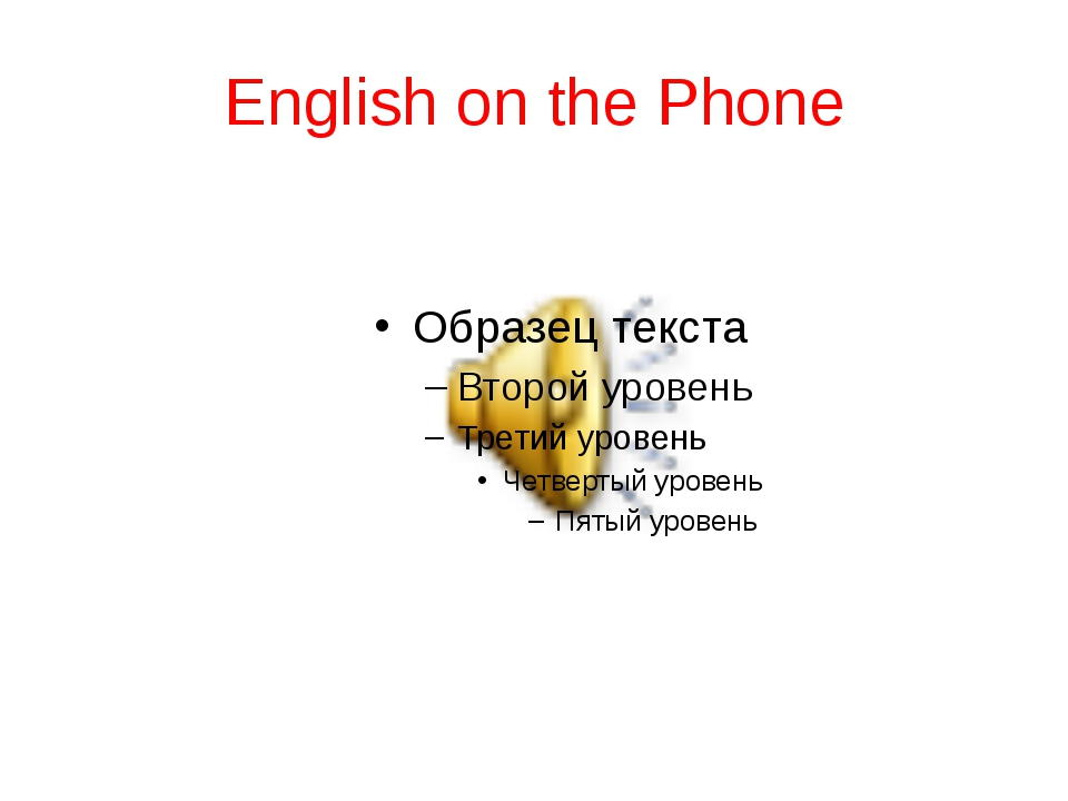English on the Phone
