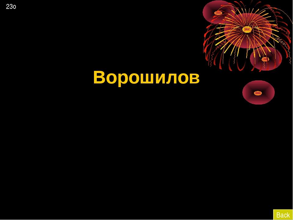 Ворошилов Back 23о