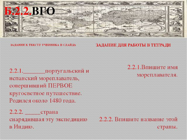 ЗАДАНИЕ К ТЕКСТУ УЧЕБНИКА И СЛАЙДА ЗАДАНИЕ ДЛЯ РАБОТЫ В ТЕТРАДИ 2.2.1.______...