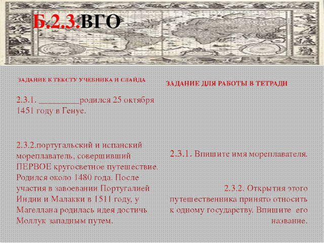 ЗАДАНИЕ К ТЕКСТУ УЧЕБНИКА И СЛАЙДА ЗАДАНИЕ ДЛЯ РАБОТЫ В ТЕТРАДИ 2.3.1. _____...
