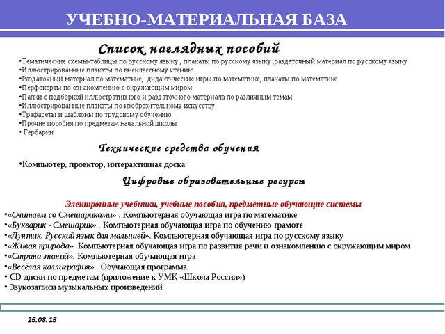 * Список наглядных пособий Тематические схемы-таблицы по русскому языку , пла...