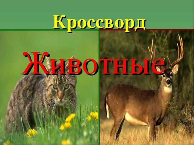 Кроссворд Животные
