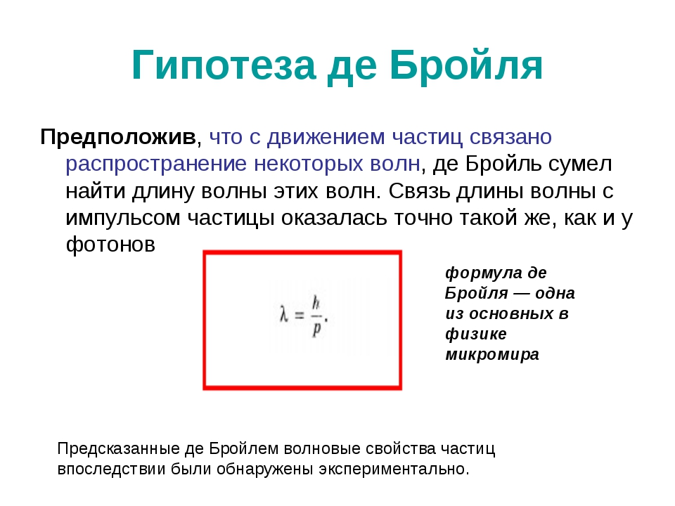 Гипотеза де Бройля Предположив, что с движением частиц связано распространени...