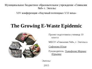The Growing E-Waste Epidemic Муниципальное бюджетное образовательное учрежден