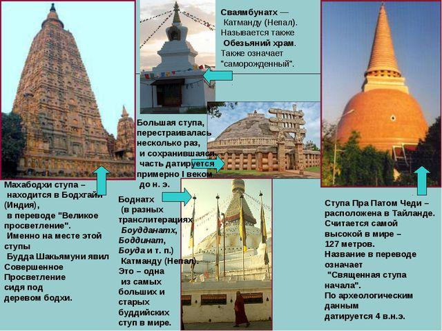 """Махабодхи ступа – находится в Бодхгайи (Индия), в переводе """"Великое просветле..."""