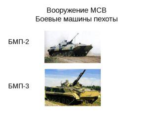 Вооружение МСВ Боевые машины пехоты БМП-2 БМП-3
