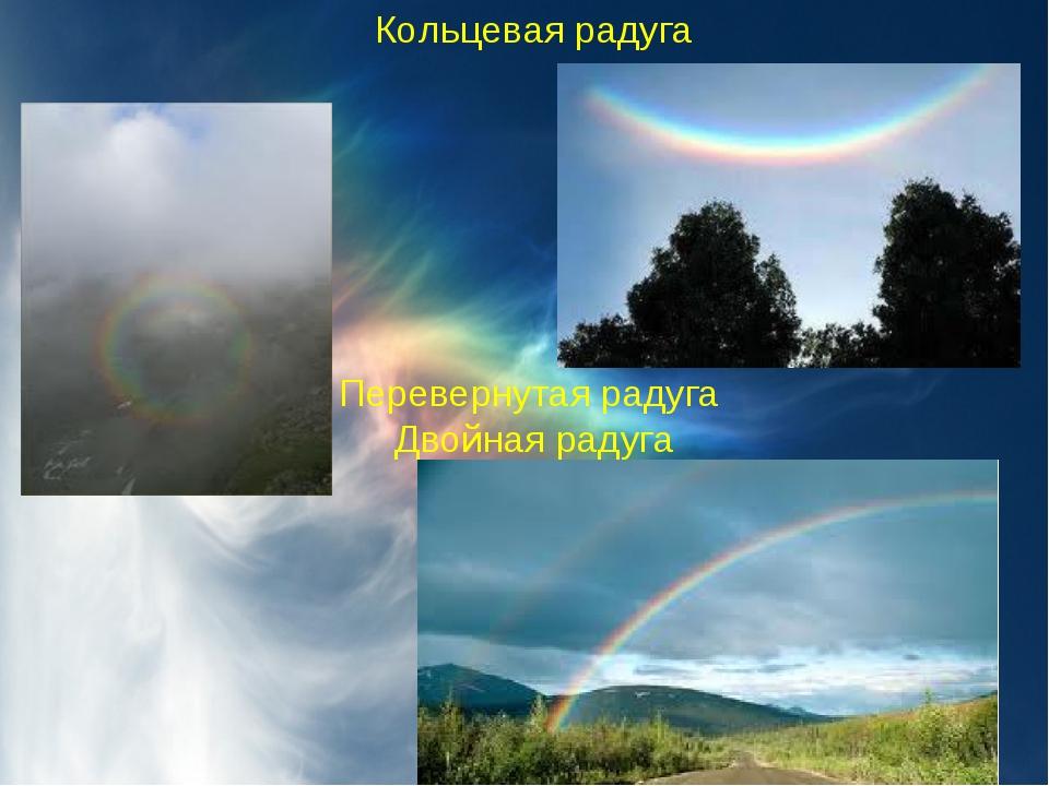 Кольцевая радуга     Перевернутая радуга Двойная радуга