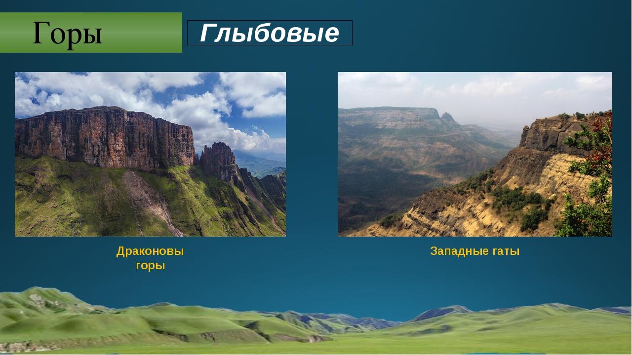 Горы Драконовы горы Западные гаты Глыбовые