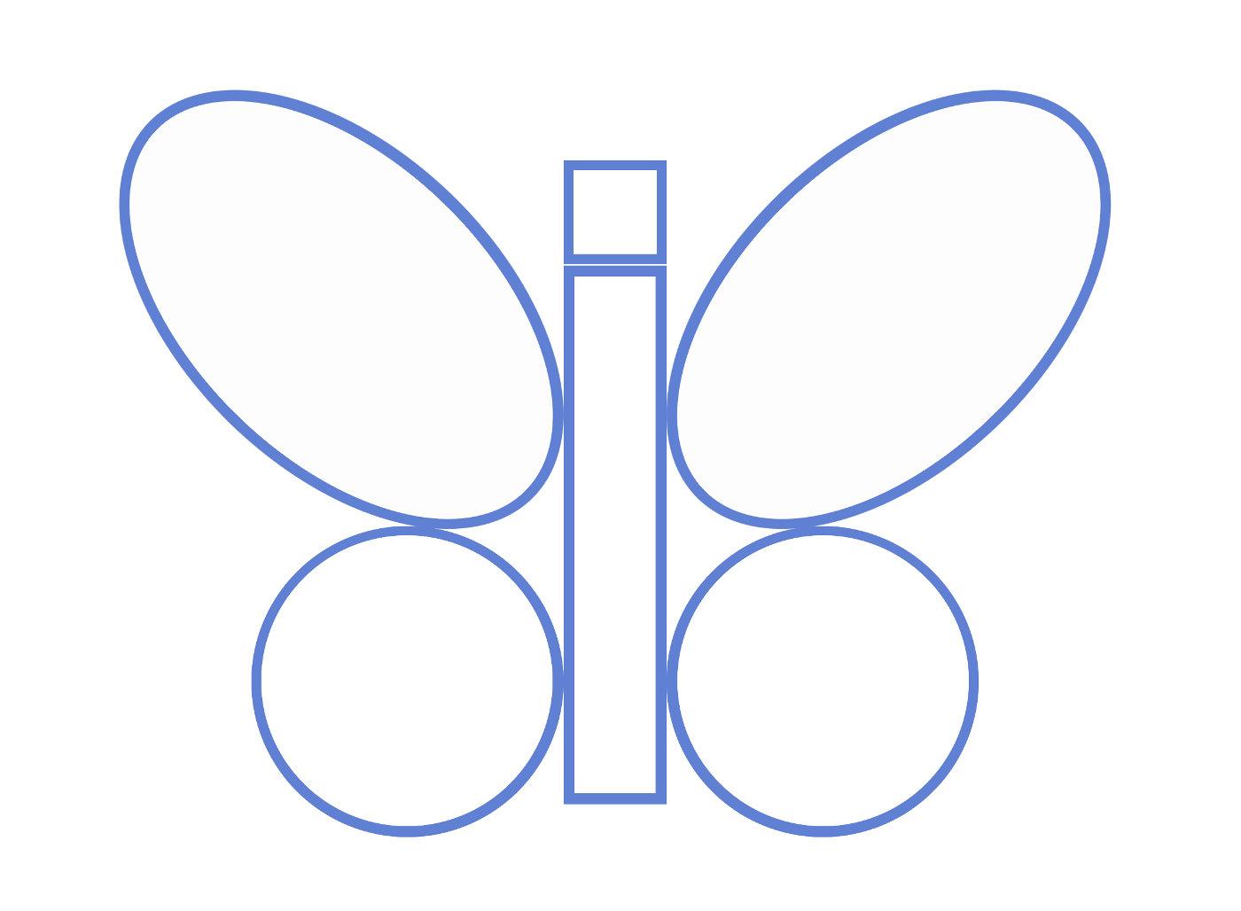 Бабочка, конструирование из геометрических фигур