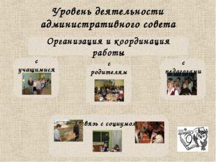 Уровень деятельности административного совета Организация и координация работ