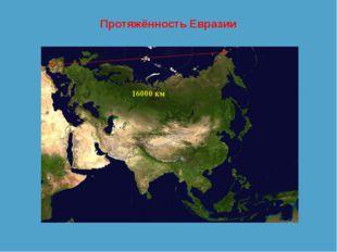 Протяжённость Евразии 16000 км