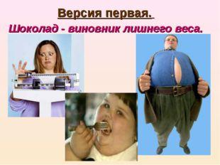 Версия первая. Шоколад- виновник лишнего веса.