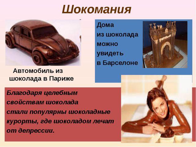 Шокомания Автомобиль из шоколада в Париже Дома из шоколада можно увидеть в Ба...