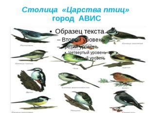 Столица «Царства птиц» город АВИС