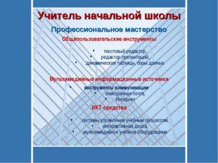 Общепользовательские инструменты текстовый редактор, редактор презентаций, ди