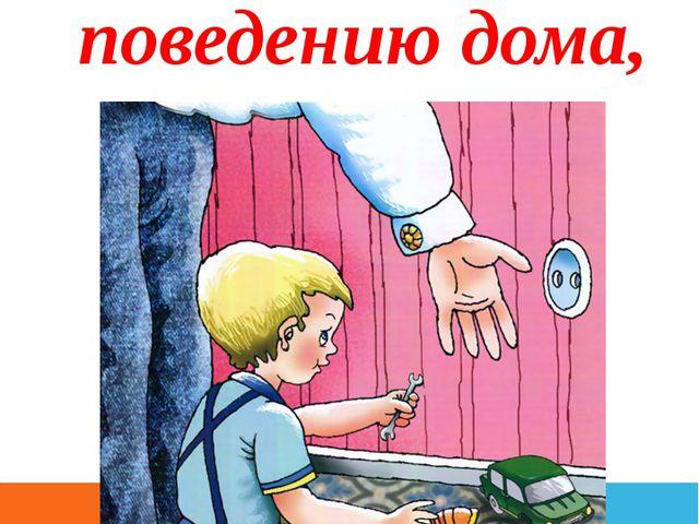 - безопасному поведению дома,