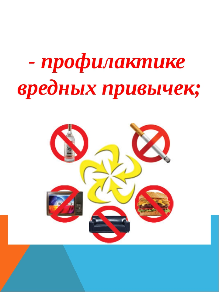 - профилактике вредных привычек;