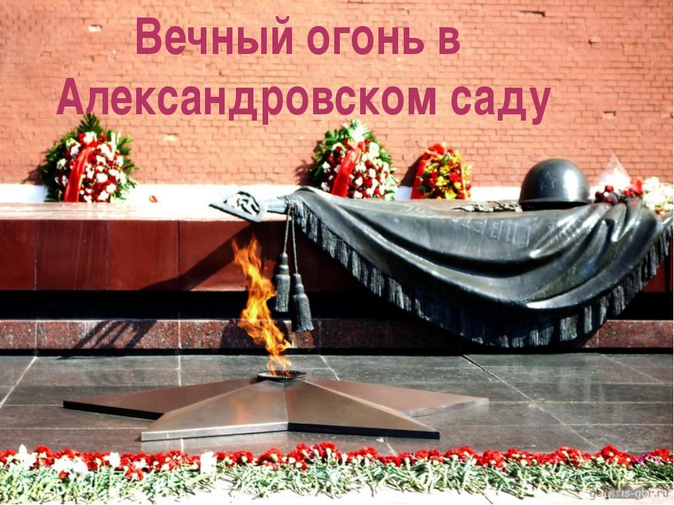 Вечный огонь в Александровском саду Вечный огонь в Александровском саду