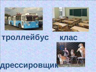 троллейбус дрессировщик класс