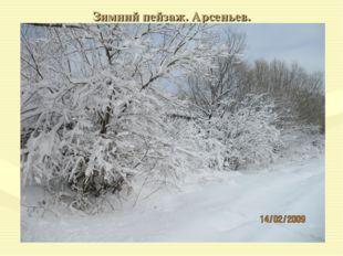 Зимний пейзаж. Арсеньев.