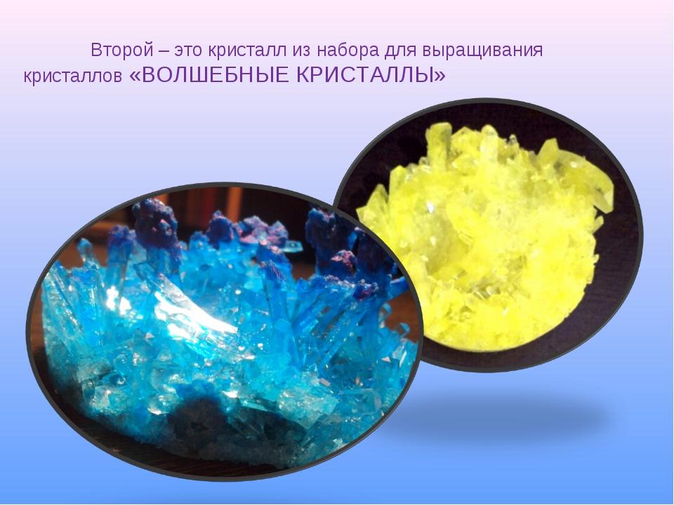 Второй – это кристалл из набора для выращивания кристаллов «ВОЛШЕБНЫЕ КРИС...